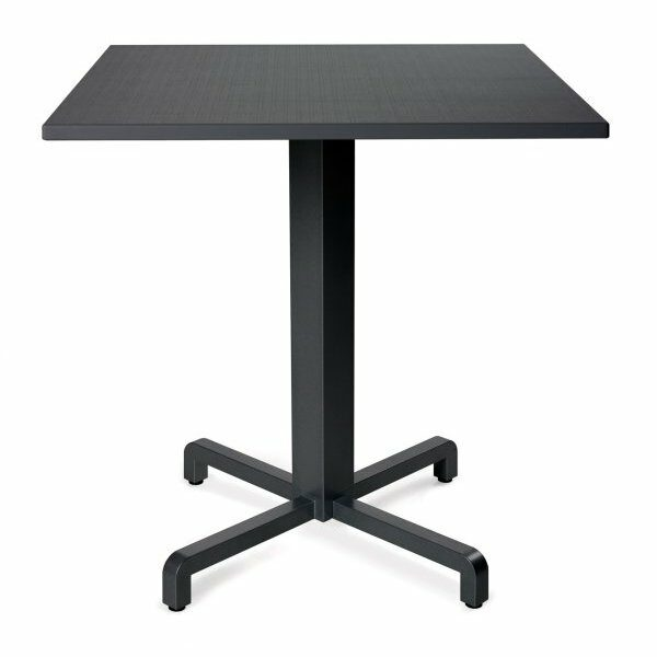 Durel Table 700 Square - Fiore Table Base & Durel Table Top (Charcoal)