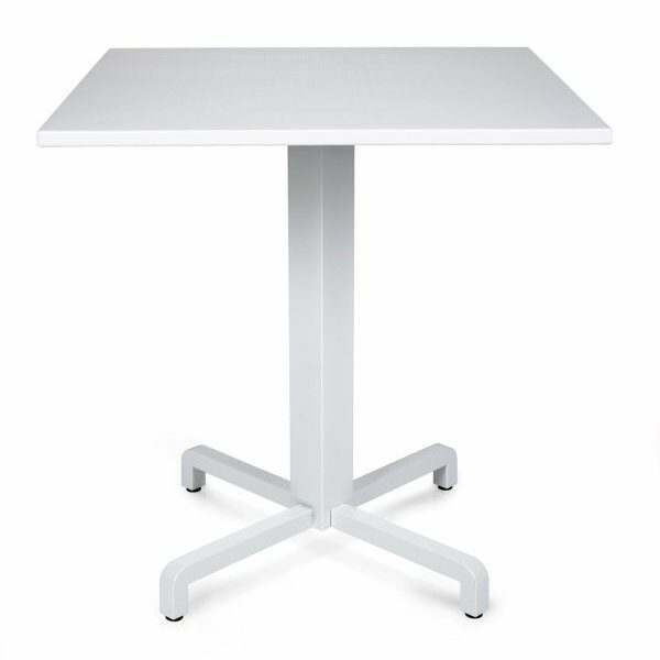 Durel Table 700 Square – Fiore Table Base & Durel Table Top (White)