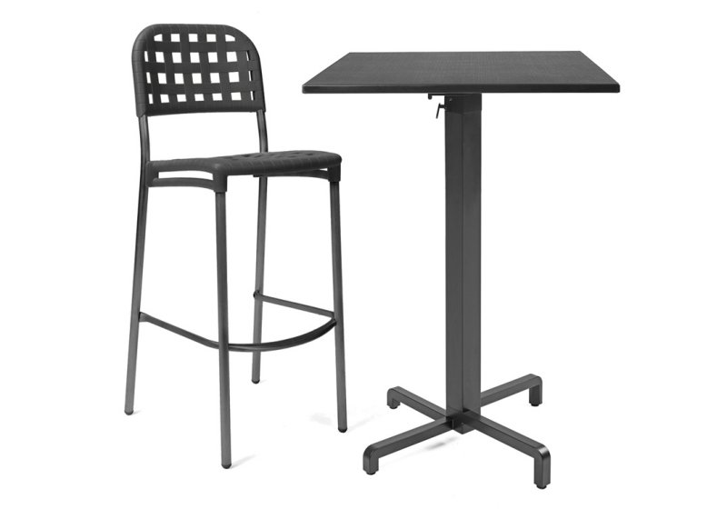 Ibisco Folding Bar Leaner Base & Durel Table Top – Charcoal