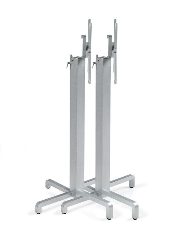 Ibisco Folding Bar Leaner Bases Stacked Horizontally – Silver