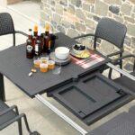 Levante 160-220 Table – Extension Mechanism revealing Panel