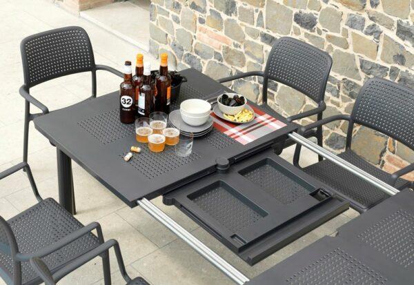 NARDI Levante 160-220 Table - Extension Mechanism revealing Panel
