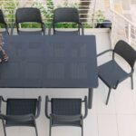 Levante 160-220 Table in Charcoal (Birds eye view)