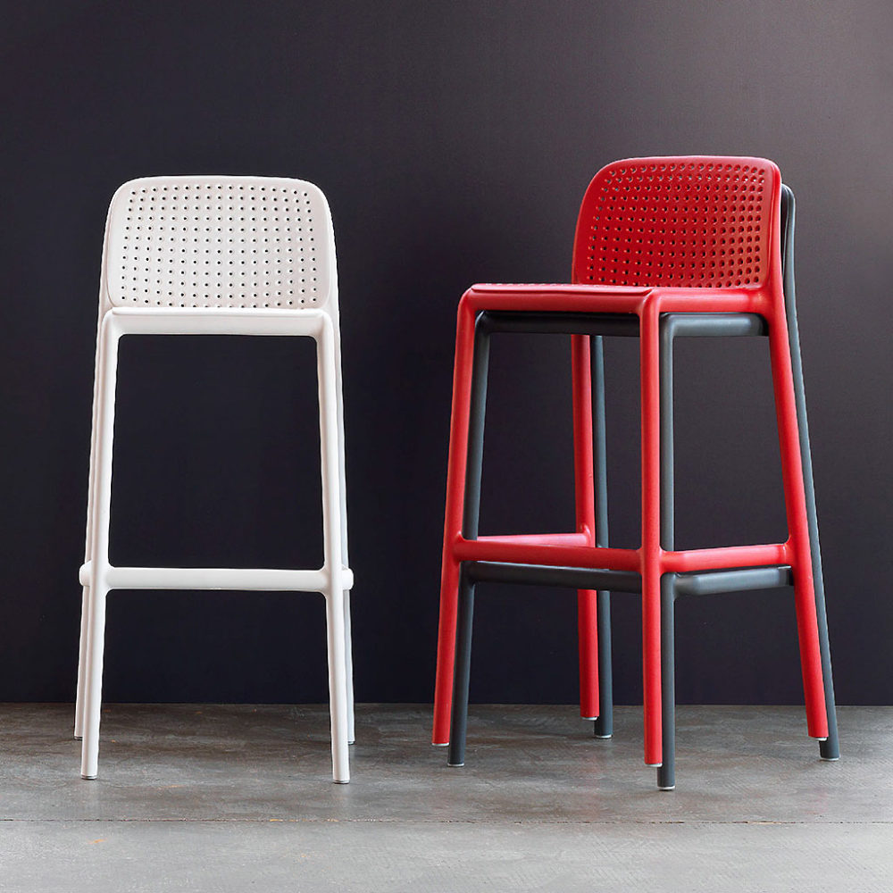 Lido Outdoor Barstool – Stackable Functionality