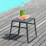 Pop Side Table in Charcoal (Pictured on Deck by Pool)