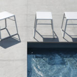 Pop Side Tables Outdoors by the Pool