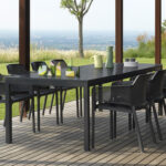 Rio 210-280cm Extendable Outdoor Dining Setting (Charcoal) – Rio Table & Net Chairs