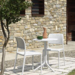 Step Table & Bora Bistro Chairs – White