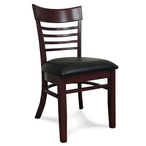 Chicago Wooden Dining Chair - Mahogany (Showroom View)