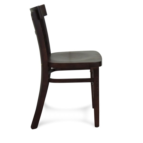 Villa Wooden Chair – Walnut Stain (Profile View)