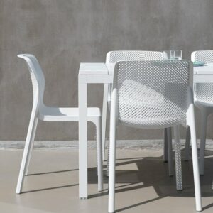 Bit Rio 9 Piece Dining Setting - White (Back of the Chair view)