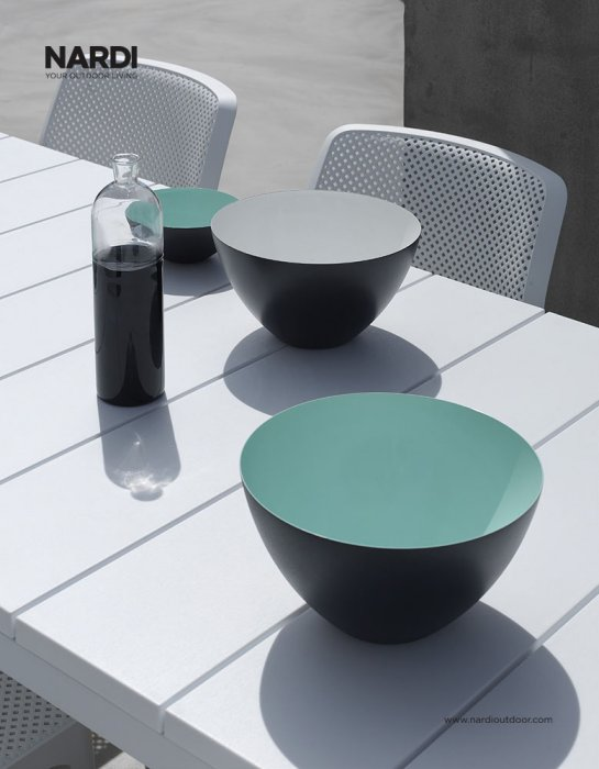 Bit Rio 9 Piece Dining Setting - White (Close up on table top)