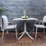 Clip Bora 3 Piece Balcony Setting – White, in Garden Deck Area