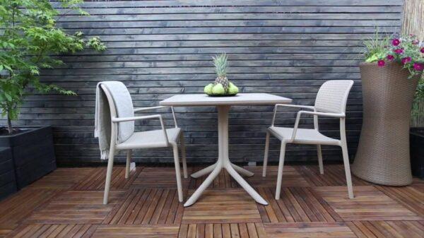 Clip Bora 3 Piece Balcony Setting - White, in Garden Deck Area