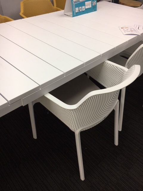 Net Chair Under Table Clearance with Rio Table