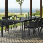 Net Rio 9 Piece Dining Setting – Charcoal (Rio Table & Net Chairs)