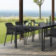 Net Rio 9 Piece Dining Setting – Charcoal (Rio Table & Net Chairs) Thumbnail