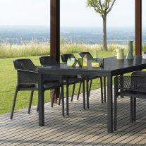 Net Rio 9 Piece Dining Setting - Charcoal (Rio Table & Net Chairs) Thumbnail