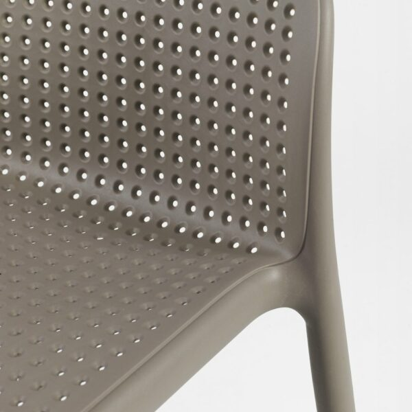 NARDI Lido Outdoor Counter Height Stool close up on seat and back pattern and texture
