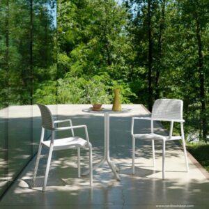 Step Armchair 3 Piece Balcony Setting - White 600x600