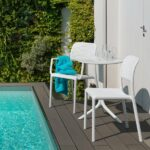 Step 3 Piece Balcony Setting – White (Pictured with Bora Arm Chair & Bora Bistro Chair)