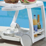 Galileo Bar & Drinks Trolley – Bottle Holders & Bottom Shelf