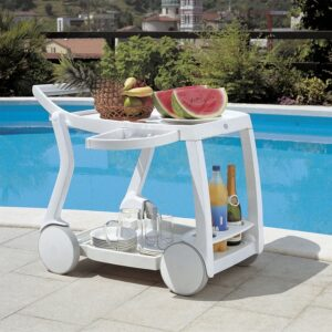 Galileo Bar & Drinks Trolley - White