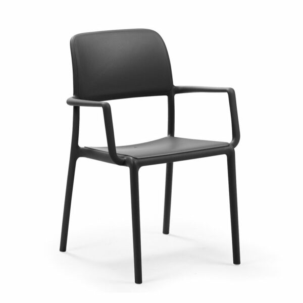 Riva Arm Chair - Charcoal