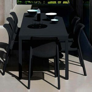 Bit Rio 9 Piece Dining Setting - Charcoal