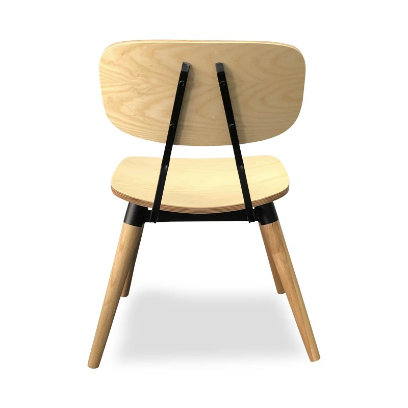 Bruges Chair – Ash Wood Natural Stain (Back View)