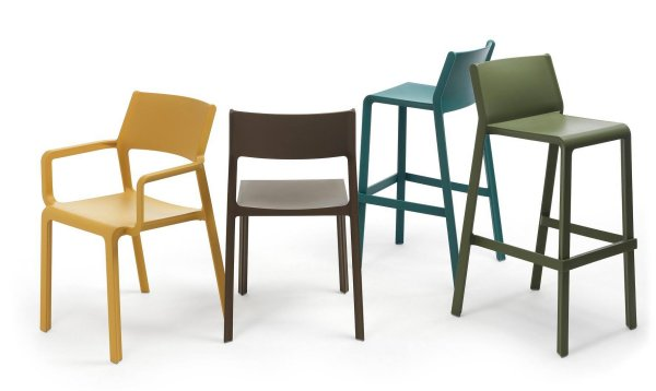 Trill Armchair, Bar Stool, Bistro Side Chair Collection