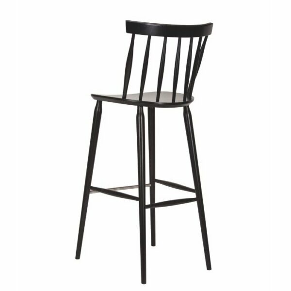 Antilla Spindle Bar Stool – Wenge (Back View)