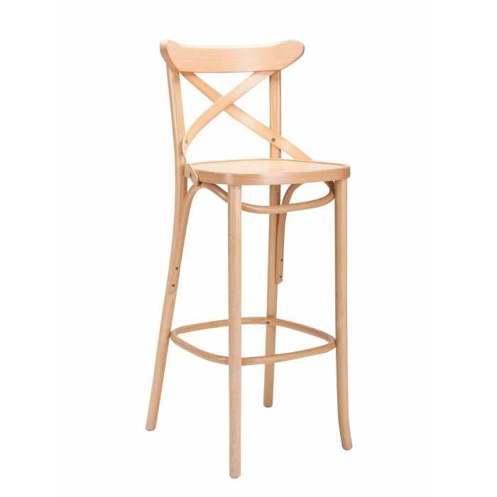 Bentwood Cross-Back Stool – Natural