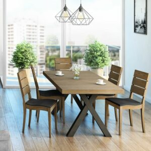 Bernina 7 Piece Dining Suite – Caramel Oak