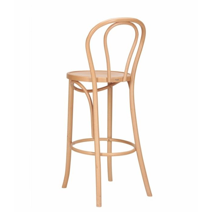Classic Bentwood Loop Stool – Natural (Back View)