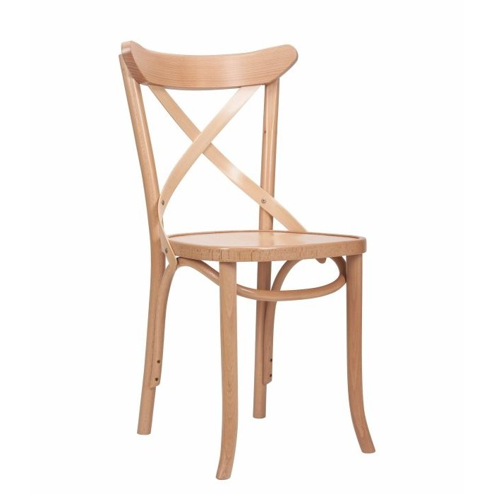 Cross Back Bentwood Chair - Natural