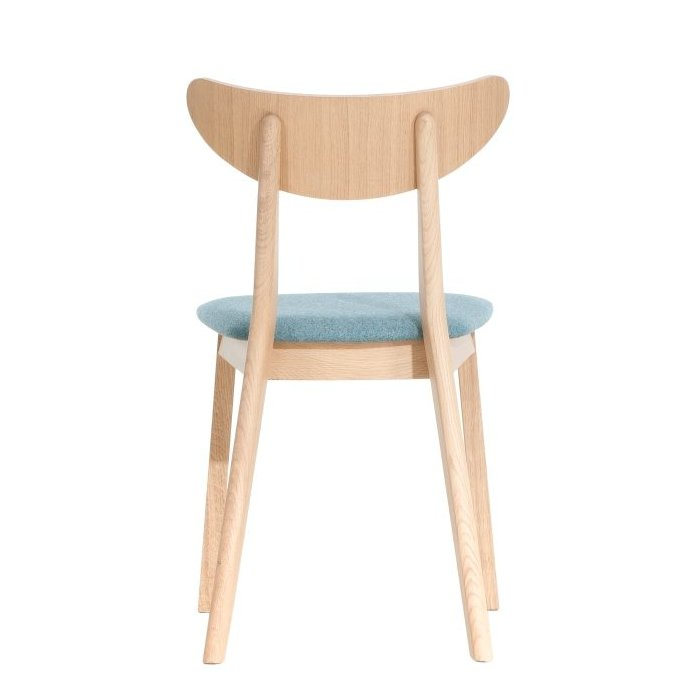 Kosiński Upholstered Wooden Chair – Natural (Back View)