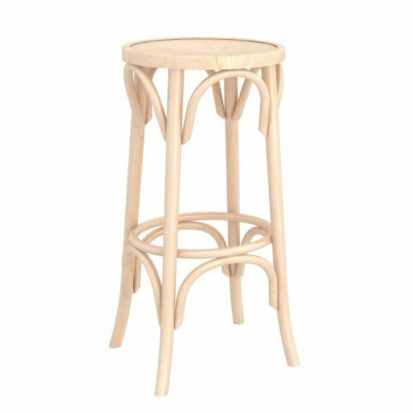 Traditional Backless Bentwood Stool - Natural
