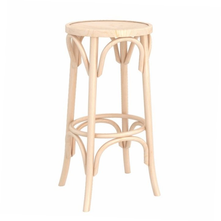 Traditional Backless Bentwood Stool – Natural