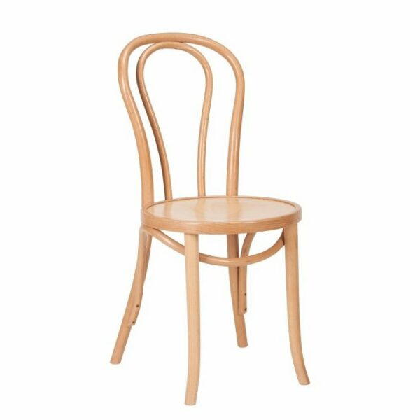Traditional Hoop Back Wooden Chair - Natural Stain
