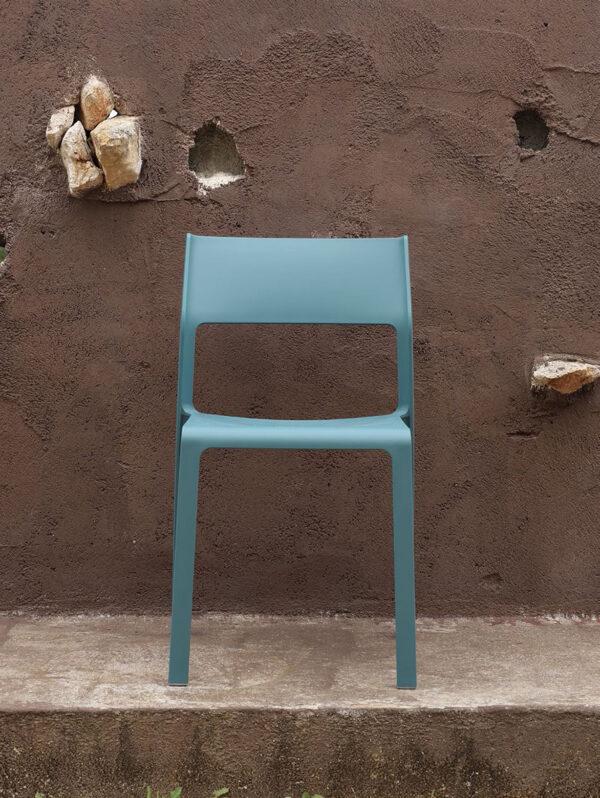 NARDI Trill Bistro Chair - Teal (Front View)