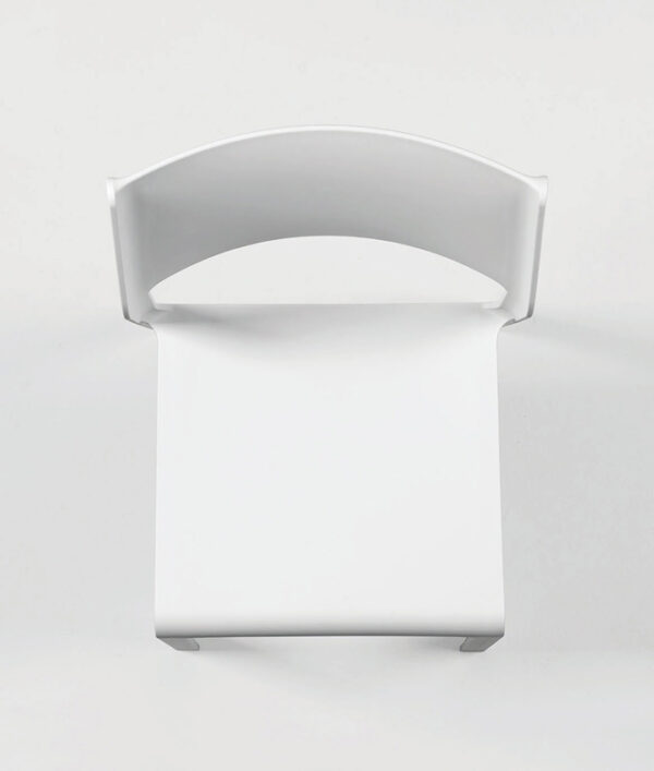 NARDI Trill Bistro Chair - White (Bird's Eye View of Seat and Back)