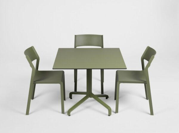 NARDI Trill Bistro Chairs in Olive Green with Frasca Table