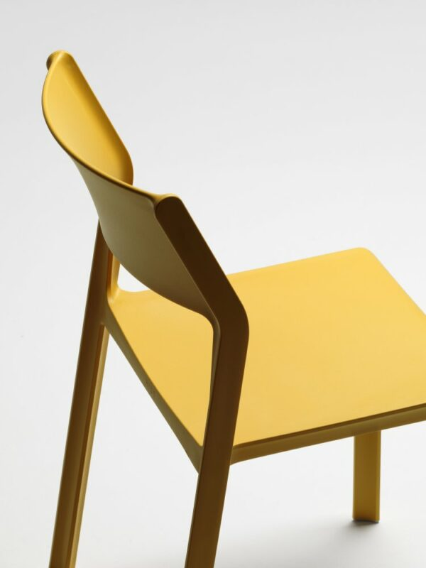 NARDI Trill Bistro in Mustard Yellow – Close up on Back and Seat