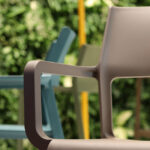 Trill Taupe Arm Chair – Pictured on Display at Furniture Show
