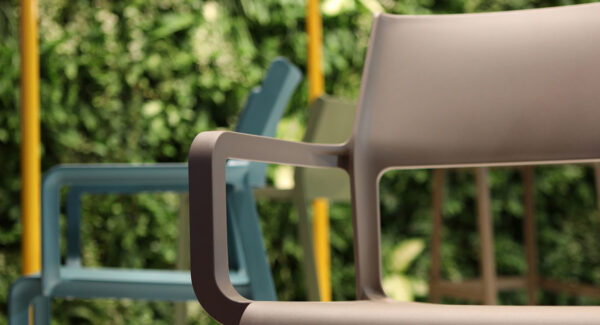 Trill Taupe Arm Chair - Pictured on Display at Furniture Show