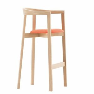 Uxi Upholstered Bar Stool - Natural