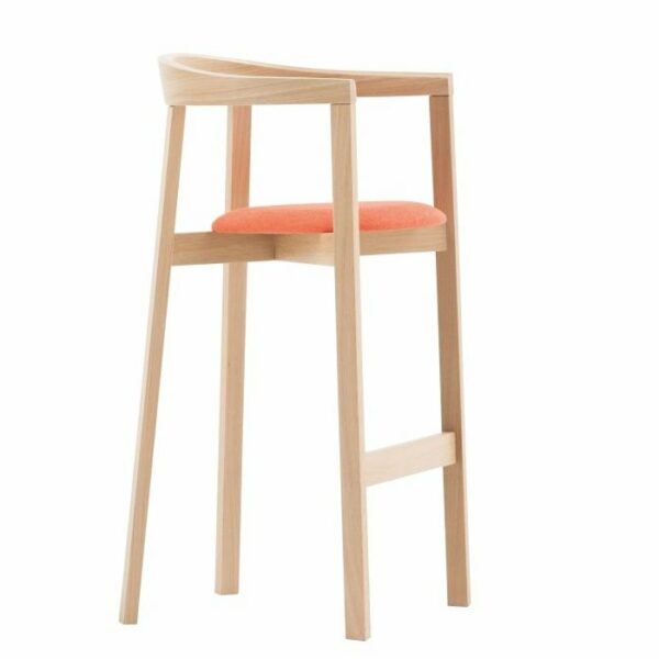 Uxi Upholstered Bar Stool – Natural