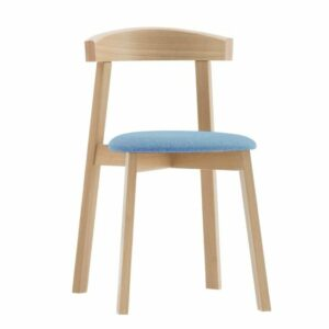 Dining Chair - Uxi Chair (Natural & Blue Cushion)