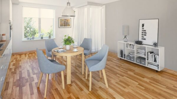 Warsaw 5 Piece Dining Suite – Natural (Dining Room View)